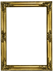 golden picture frame incl. clipping path