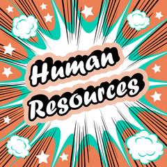 Human Resource HR background  human resources concept