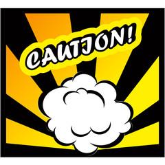 Danger Comic book background Caution! sign Card Pop Art office s