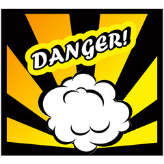 Danger Comic book background Danger! sign Card Pop Art office st
