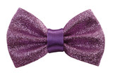 Glimmering purple bow tie poster