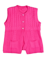 knitted red waistcoat