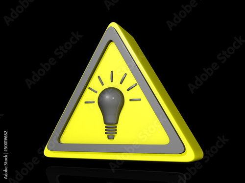 Caution Idea Icon Dark BG