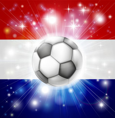 Dutch soccer flag