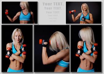 Stunning blondie with sport inventory