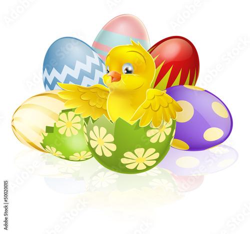 反思可爱可爱的娱乐婴儿季节性小的小鸡巧克力复活节