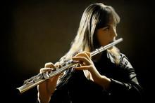 Flute music flutist instrument playing