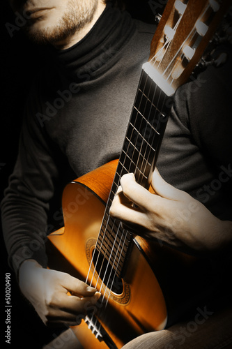 Acoustic guitar player guitarist