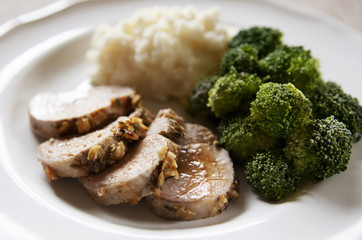 Sliced Pork Tenderloin Dinner