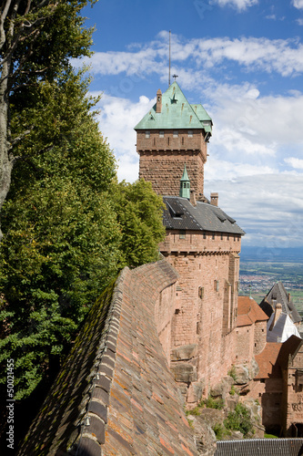 Castle Haut-Koenigsbourg in Alsace, France