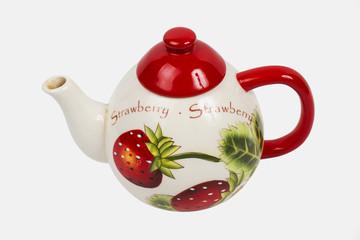 teapot on the white background
