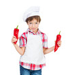 boy with peppers