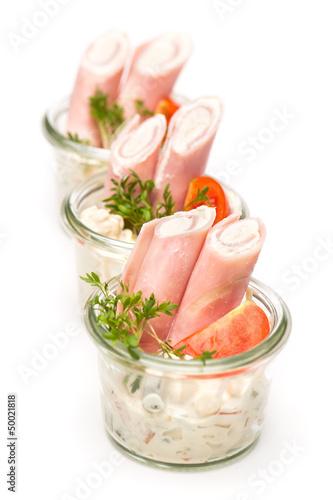Heringssalat in drei Gläsern