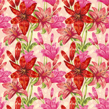 Colorful spring floral seamless pattern