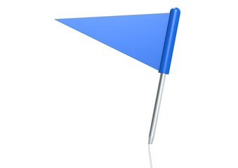 Blue triangle flag pin