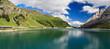 Dolomiti - Fedaia lake, panoramic view