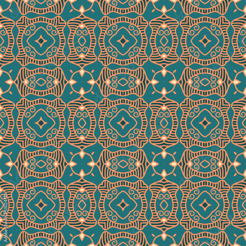 Papiers peints Artificiel Seamless colorful retro pattern background