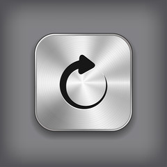 Media player icon - vector metal app button