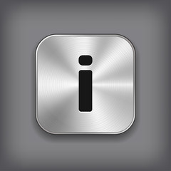 Info icon - vector metal app button