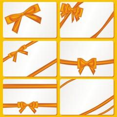 Set mit 6 orangen Schleifen