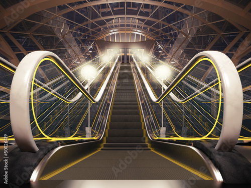Night escalator