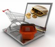 Concept of purchase of consumer goods on Internet