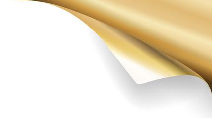 Papier Ecke Gold rechts oben