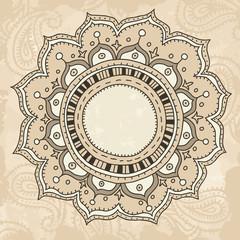 Mandala on vintage background