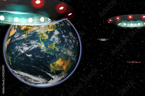 UFO invasion Earth from Space