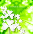 St. Patrick's Day colorful green swirl wave eps10 background ill