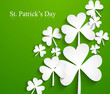 Happy St. Patrick's Day Irish leaf lucky green colorful backgrou