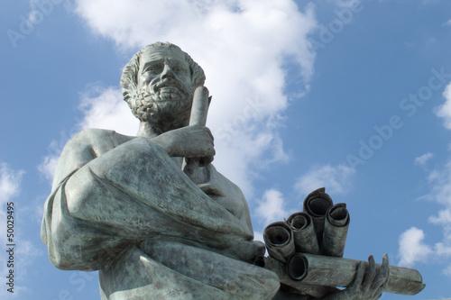 Leinwanddruck Bild Statue of Aristotle