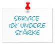 Zettel weiß Service Stärke