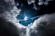 Samolot pasa�erski na niebie