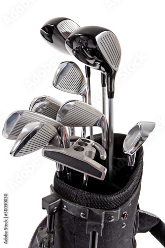 variety of golf clubs