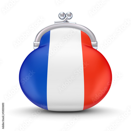 French flag on a wallet.