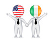 US-Irish cooperation concept. concept.