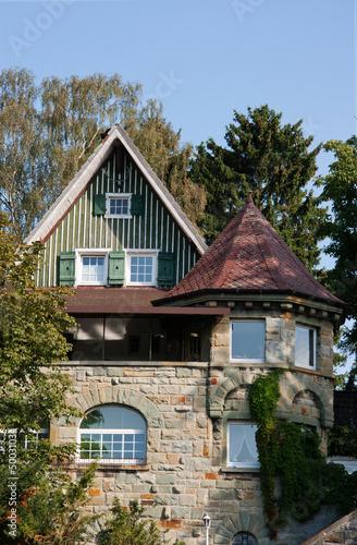 Fachwerkhaus mit Turm