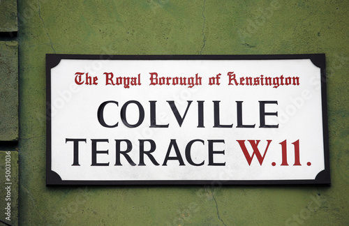 London Street Sign, COLVILLE TERRACE
