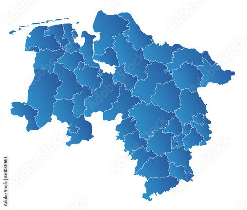 Niedersachsen Karte