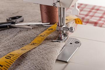 sewing machine closeup