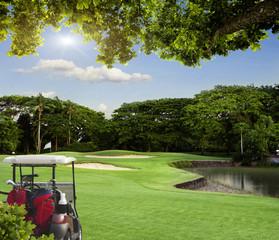 golf-car field