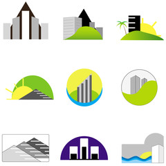 Real estate Vector Logo set