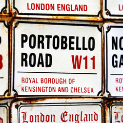 London Street Sign, Portobello Road