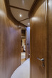 Italy, Alfamarine 78 luxury yacht, lower level corridor