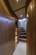 Italy, Alfamarine 78 luxury yacht, staircase to the lower level