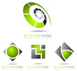 Business logo green design