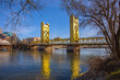 Towe Bridge in Sacramento Kalifornien