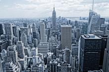 Résumé vue de la hauteur à Manhattan