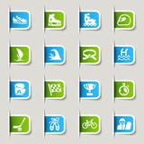 Fototapety Label - Sport icons